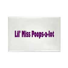 Miss Poops a lot Rectangle Magnet