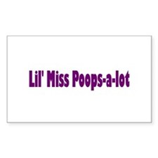 Miss Poops a lot Rectangle Decal