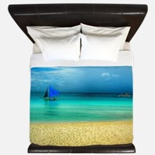 Beach scene King Duvet