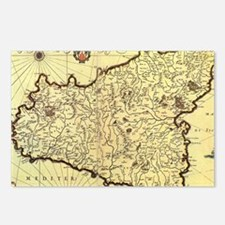 Unique Map of sicily Postcards (Package of 8)
