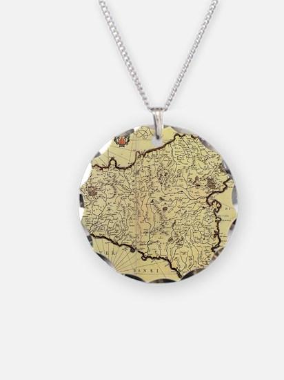 Unique Map of sicily Necklace