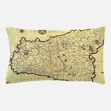 Unique Map of sicily Pillow Case