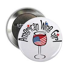American Wine Girl Button