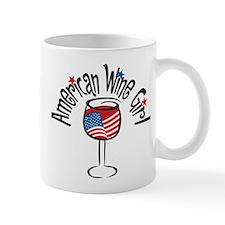 American Wine Girl Small Mug