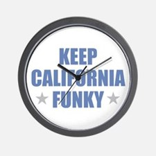 KEEP CALIFORNIA FUNKY Wall Clock