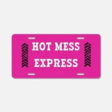 Hot Mess Express Aluminum License Plate