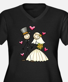 Bride and Groom Plus Size T-Shirt