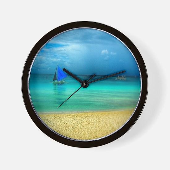 Beach Scene Photo 3 Wall Clock