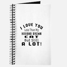 I Love You Less Than My Havana Brown Cat Journal