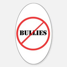 No Bullies Oval Decal
