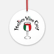 Italian Wine Guy Ornament (Round)