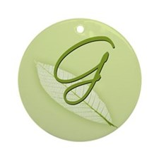 Leaves Monogram G Ornament (Round)