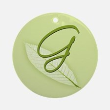 Leaves Monogram G Ornament (Round)