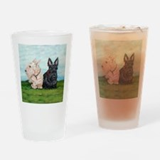 Scottish Terrier Companions Drinking Glass