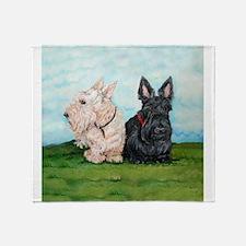 Scottish Terrier Companions Throw Blanket