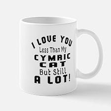 I Love You Less Than My Cymric Cat Mug