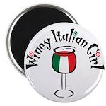 Winey Italian Girl Magnet