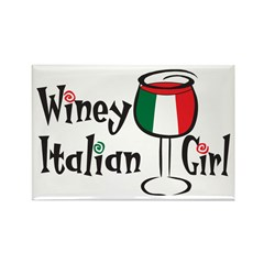 Winey Italian Girl Rectangle Magnet (10 pack)