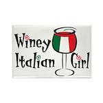 Winey Italian Girl Rectangle Magnet