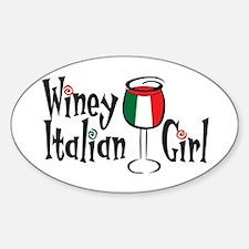 Winey Italian Girl Oval Decal