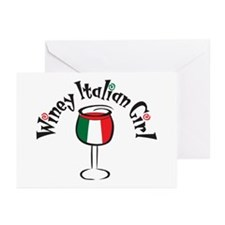 Winey Italian Girl Greeting Cards (Pk of 10)