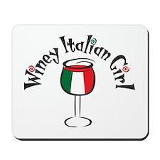 Winey Italian Girl Mousepad