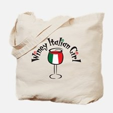 Winey Italian Girl Tote Bag