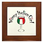 Winey Italian Girl Framed Tile