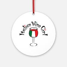 Winey Italian Girl Ornament (Round)