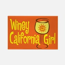 Winey California Girl Rectangle Magnet