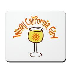Winey California Girl Mousepad