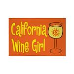 California Wine Girl Rectangle Magnet (100 pack)