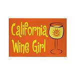 California Wine Girl Rectangle Magnet