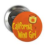 California Wine Girl Button