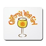 California Wine Girl Mousepad