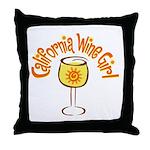 California Wine Girl Throw Pillow