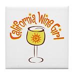 California Wine Girl Tile Coaster