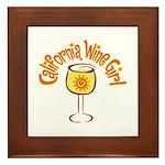 California Wine Girl Framed Tile