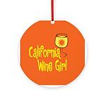 California Wine Girl Ornament (Round)