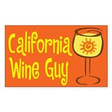 California Wine Guy Rectangle Decal