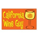 California Wine Guy Rectangle Sticker