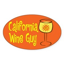 California Wine Guy Oval Decal