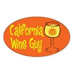 California Wine Guy Oval Sticker