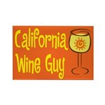California Wine Guy Rectangle Magnet