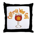 California Wine Guy Throw Pillow