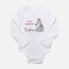 Wheatie Scottie Squirr Long Sleeve Infant Bodysuit