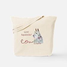 Wheatie Scottie Squirrels Tote Bag