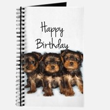Birthday Yorkshire Terriers Journal