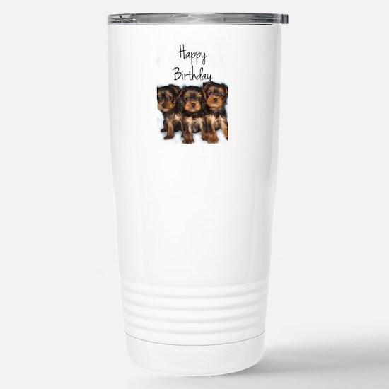 Birthday Yorkshire Terr Stainless Steel Travel Mug