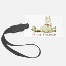 Scottie Paper Trained Luggage Tag